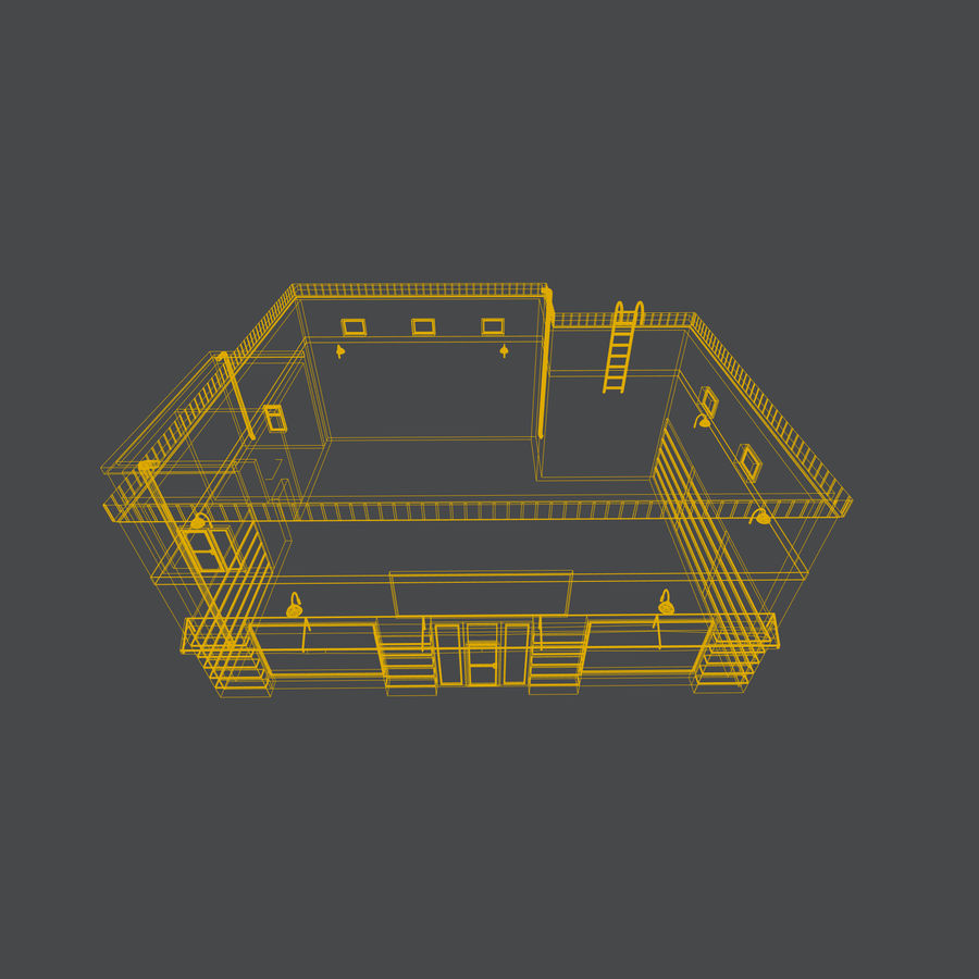 Warehouse asset royalty-free 3d model - Preview no. 9