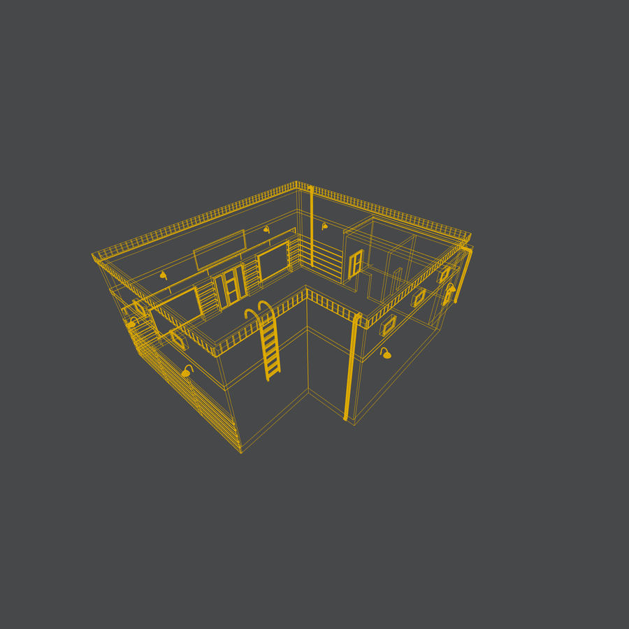 Warehouse asset royalty-free 3d model - Preview no. 10