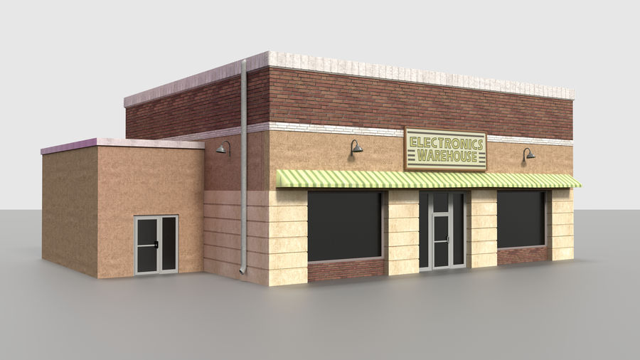 Warehouse asset royalty-free 3d model - Preview no. 1