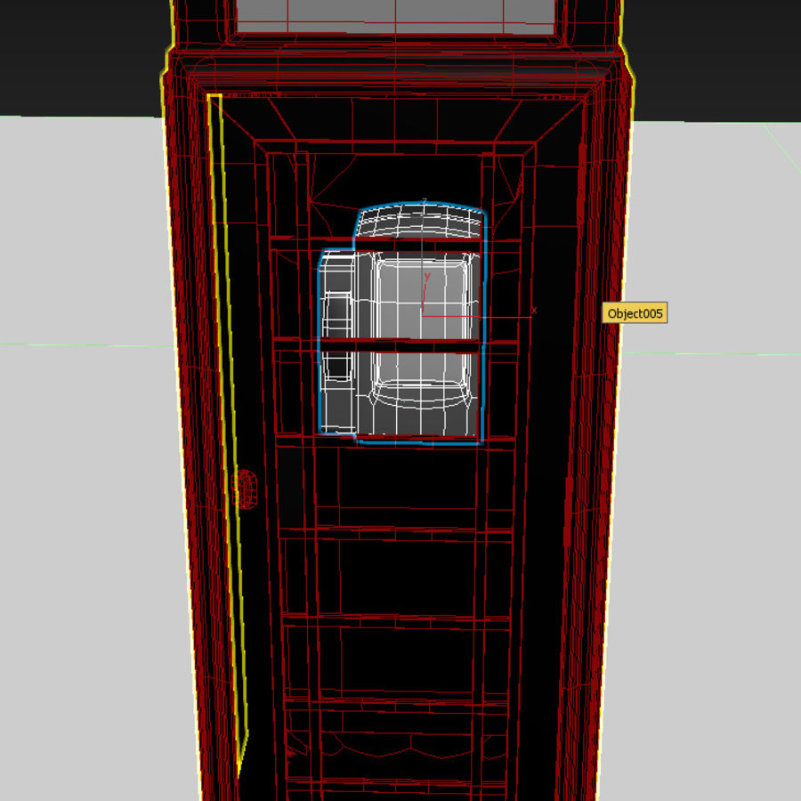 London Telephone Booth royalty-free 3d model - Preview no. 9