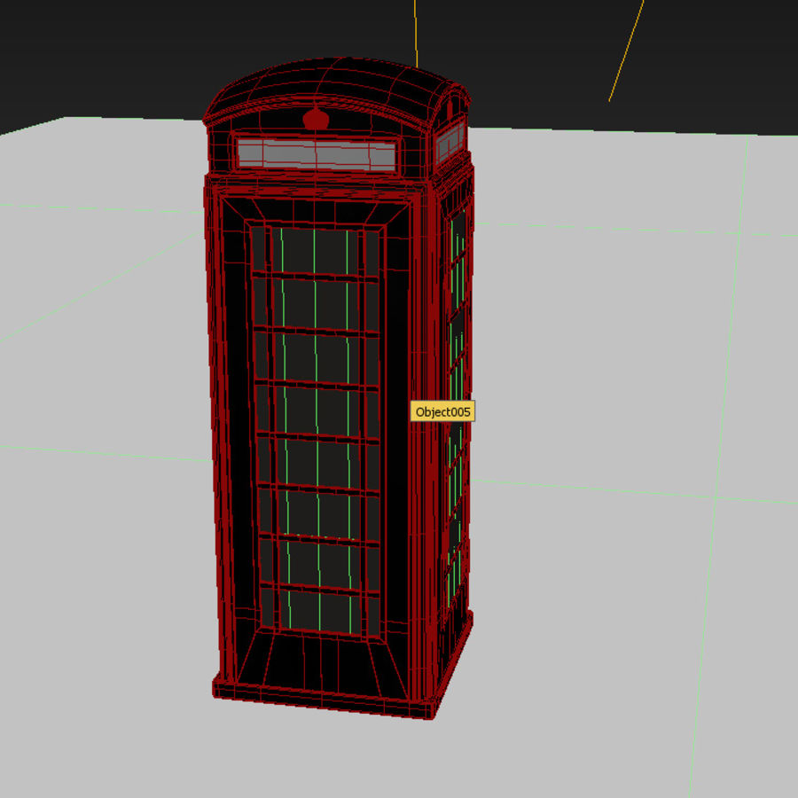 London Telephone Booth royalty-free 3d model - Preview no. 11