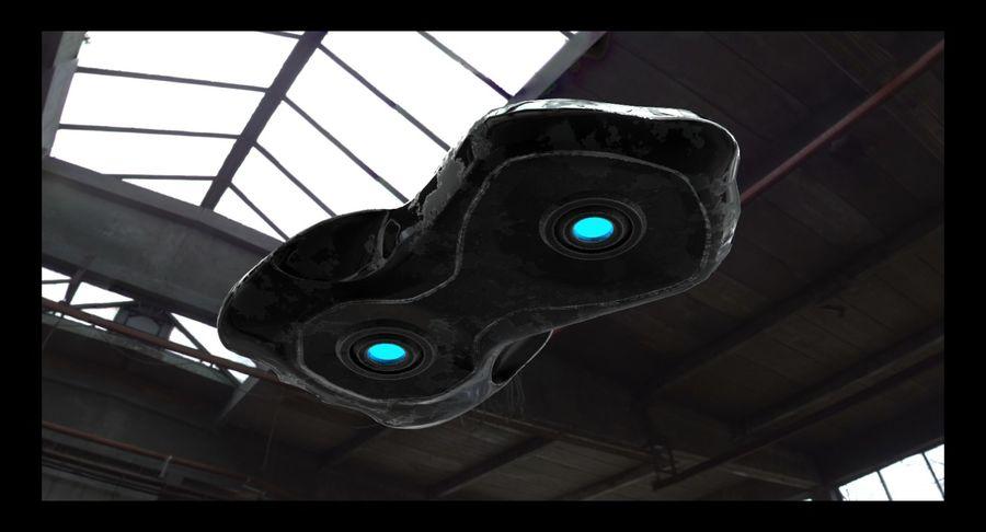 Sci-Fi Ship royalty-free 3d model - Preview no. 3