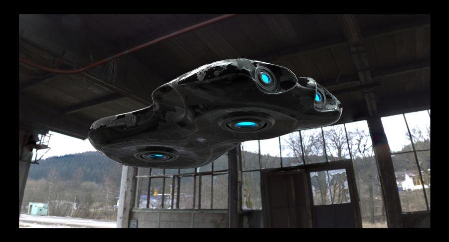 Sci-Fi Ship royalty-free 3d model - Preview no. 2