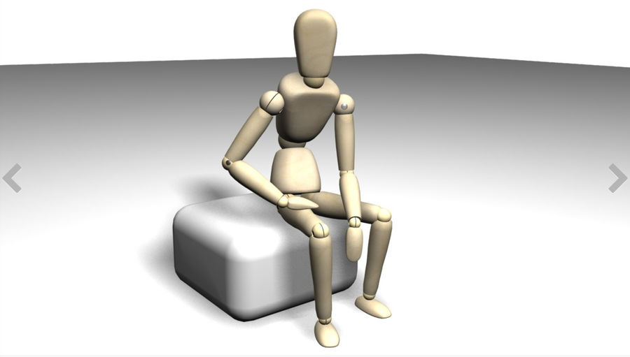 wood mannequin royalty-free 3d model - Preview no. 4