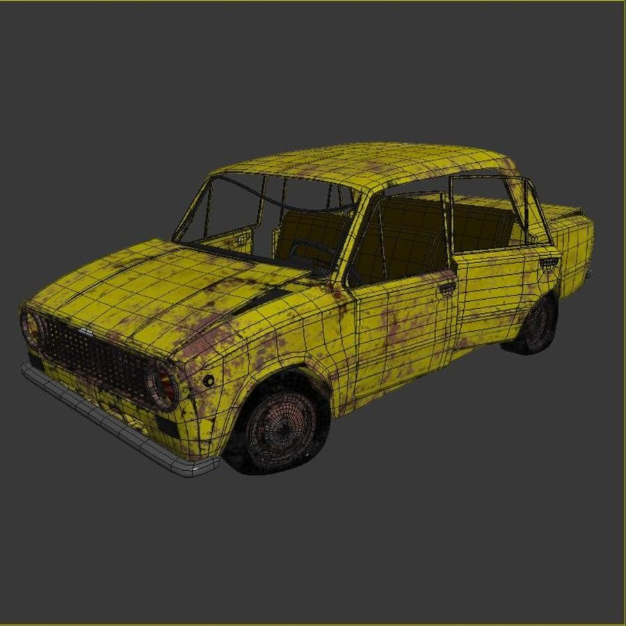 VAZ 2101 Rusty royalty-free 3d model - Preview no. 7