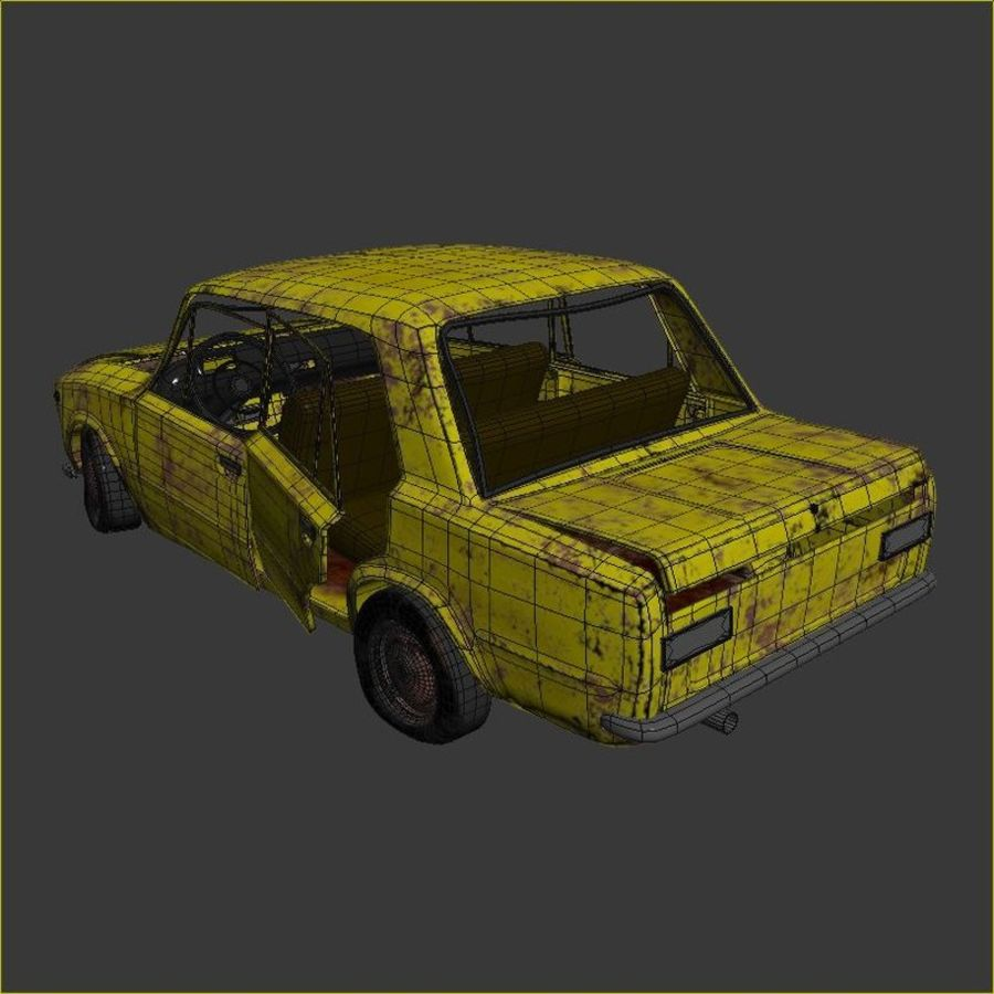 VAZ 2101 Rusty royalty-free 3d model - Preview no. 8