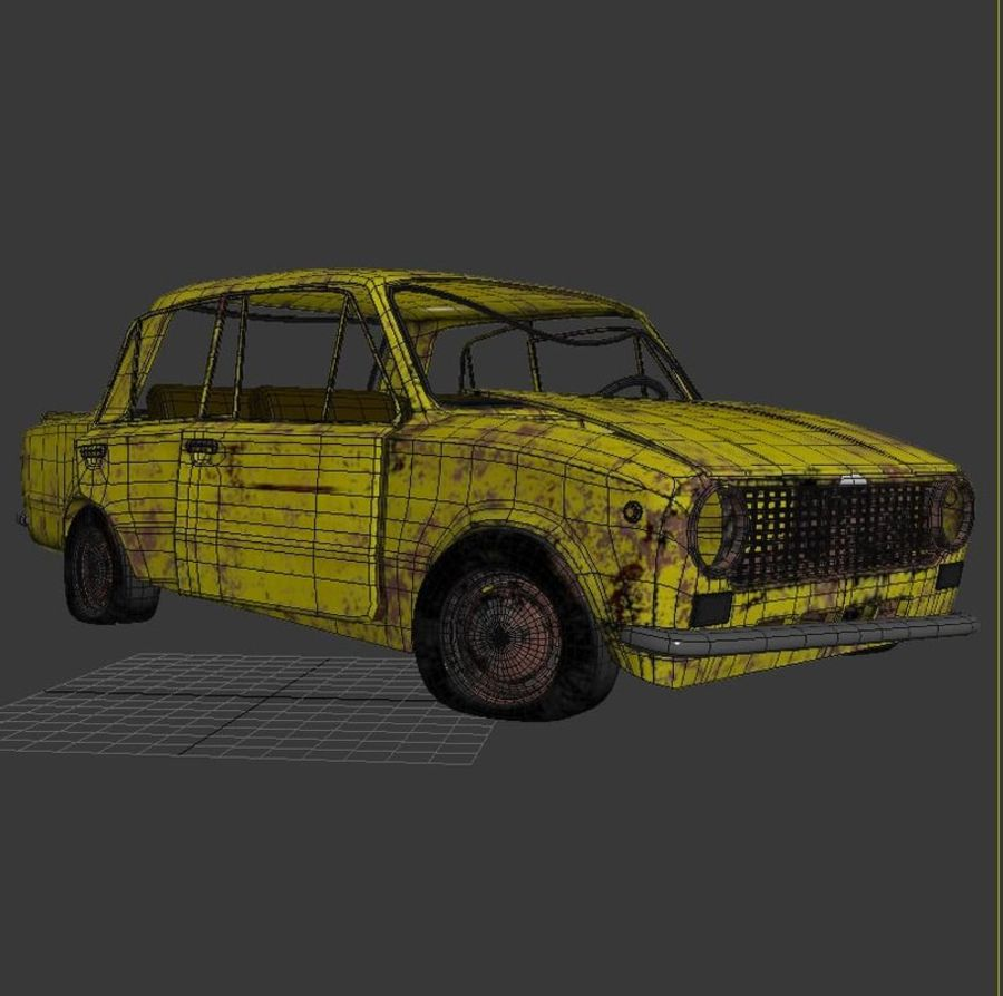 VAZ 2101 Rusty royalty-free 3d model - Preview no. 9