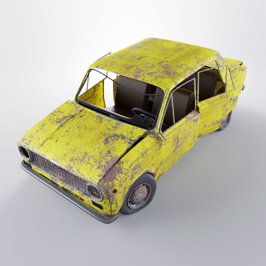 VAZ 2101 Rusty royalty-free 3d model - Preview no. 4