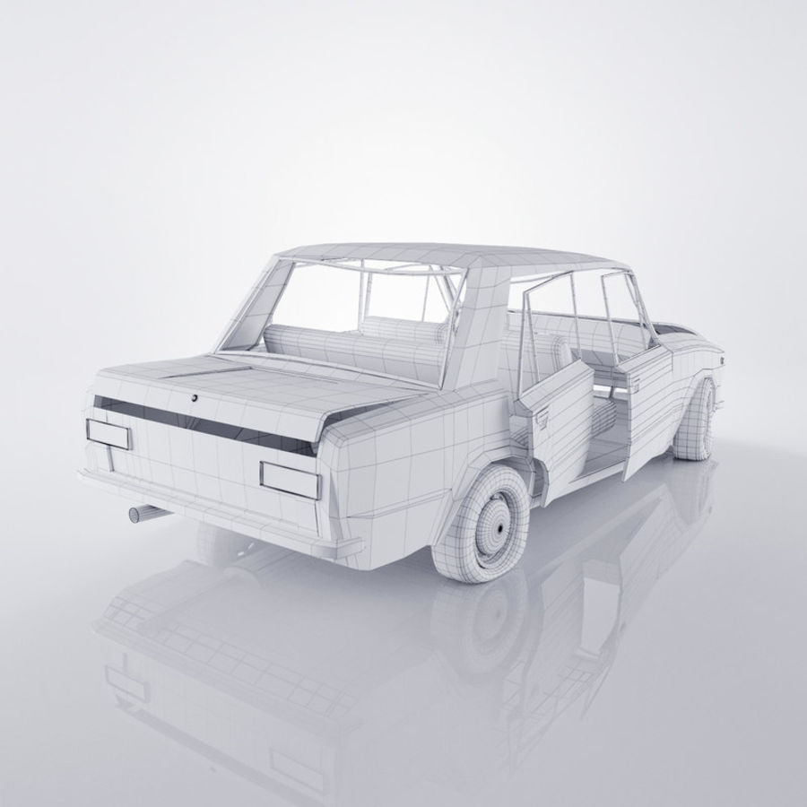 VAZ 2101 Rusty royalty-free 3d model - Preview no. 6