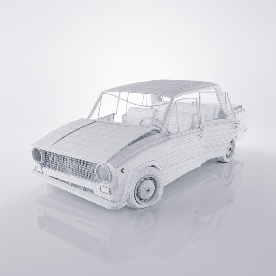 VAZ 2101 Rusty royalty-free 3d model - Preview no. 5