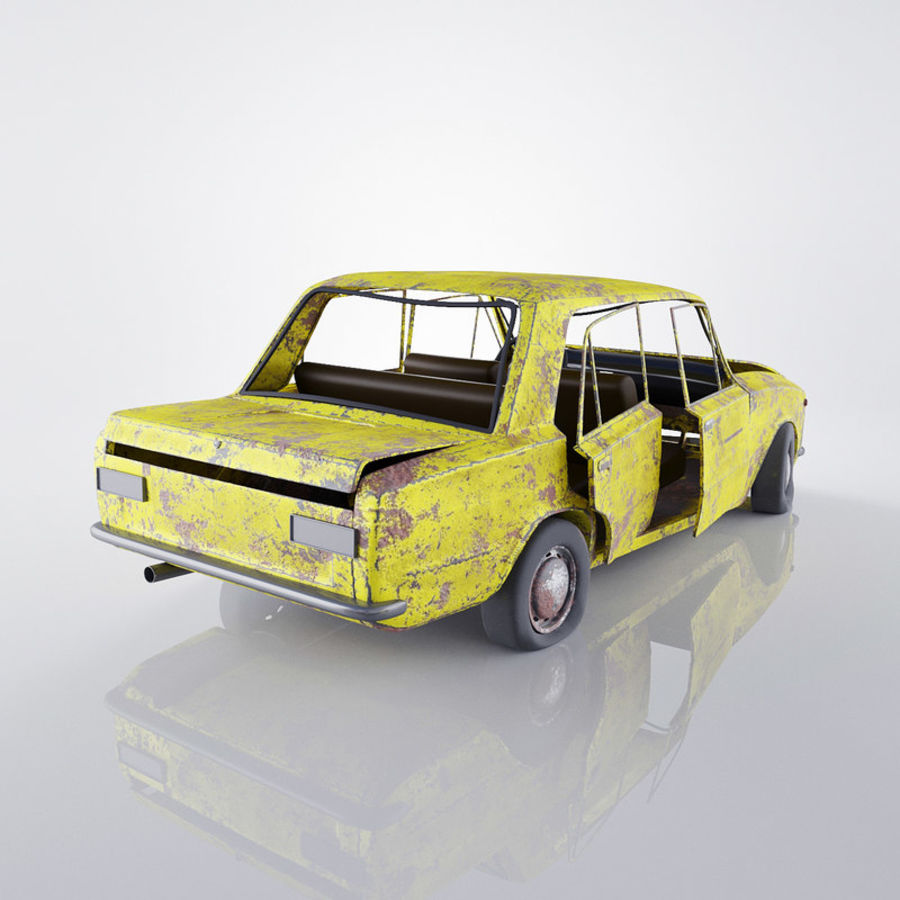VAZ 2101 Rusty royalty-free 3d model - Preview no. 3