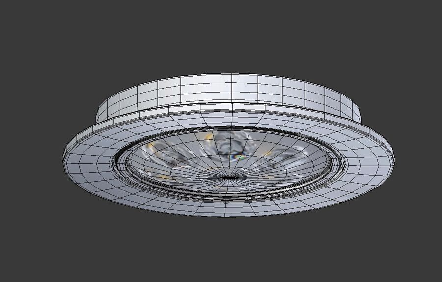 Ceiling Spot Lamp royalty-free 3d model - Preview no. 9
