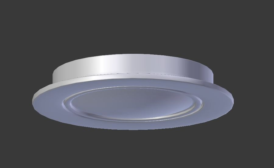 Ceiling Spot Lamp royalty-free 3d model - Preview no. 4