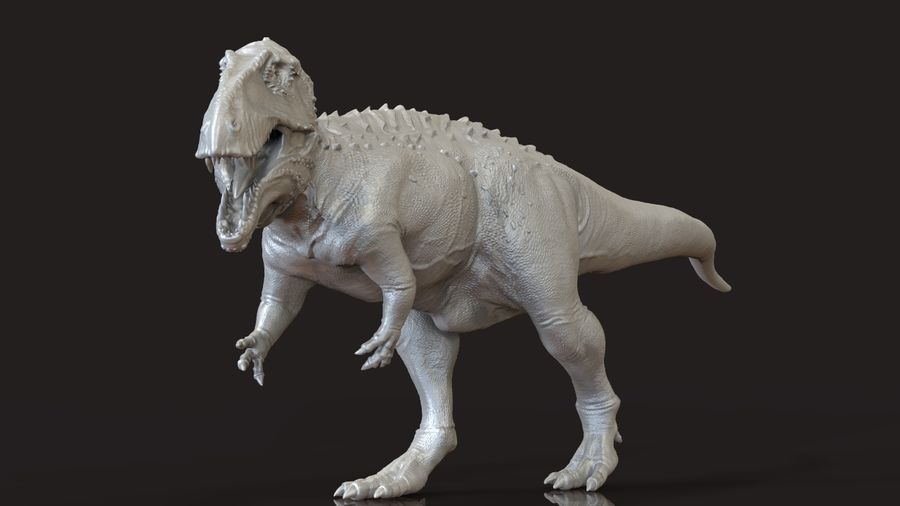 Modèle Acrosaurus (dinosaure) royalty-free 3d model - Preview no. 8
