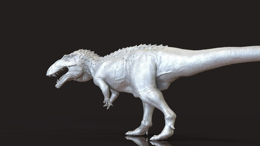 Modèle Acrosaurus (dinosaure) royalty-free 3d model - Preview no. 6