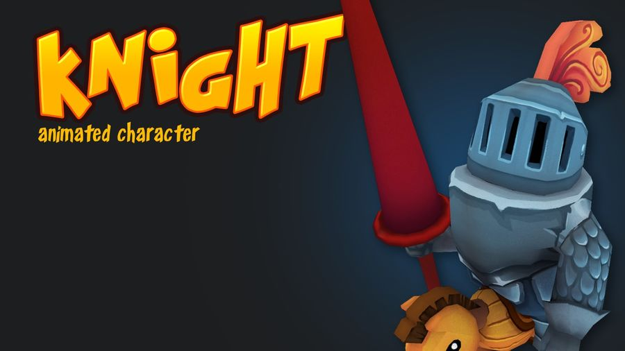 Knight animerad karaktär royalty-free 3d model - Preview no. 1