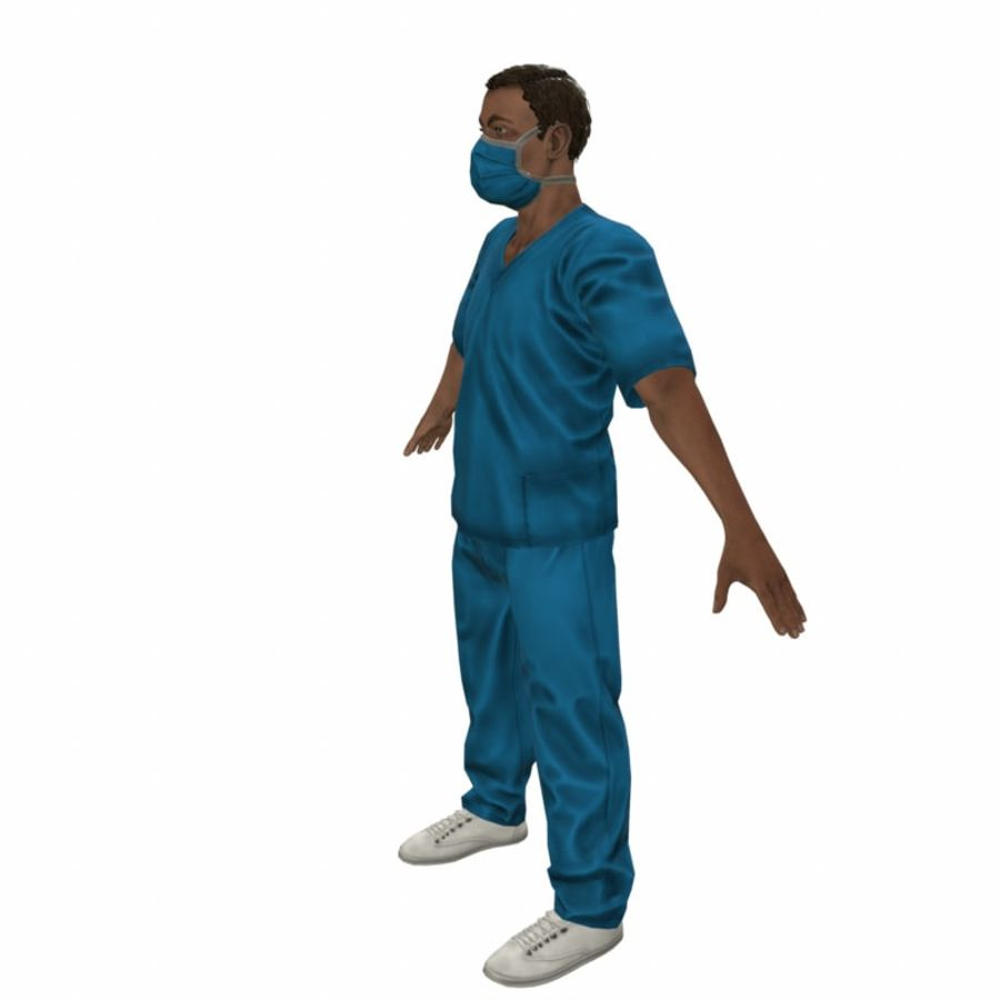 American Medical Man (Rigged)) royalty-free 3d model - Preview no. 3