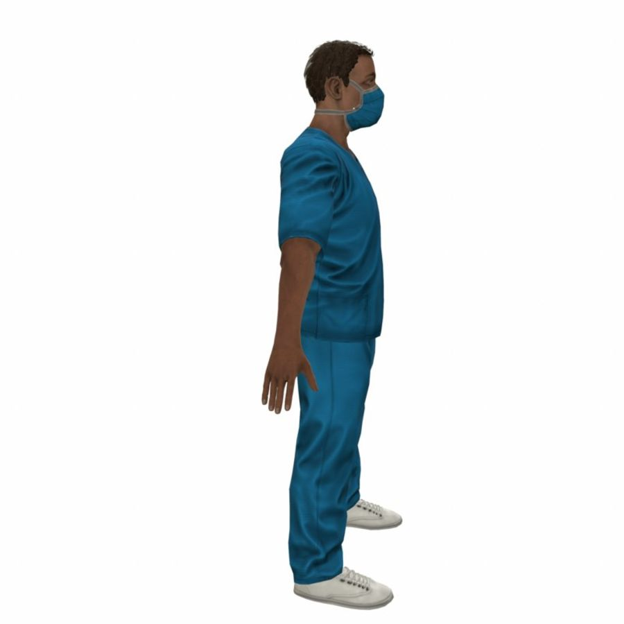 American Medical Man (Rigged)) royalty-free 3d model - Preview no. 12