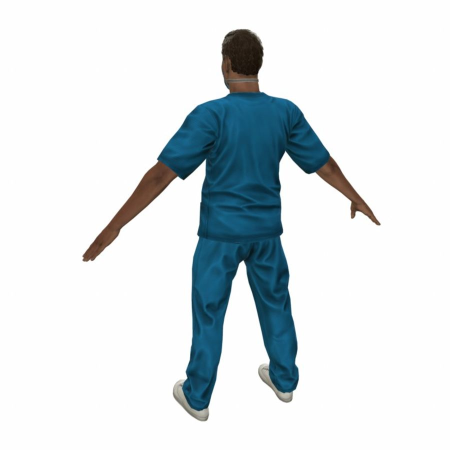 American Medical Man (Rigged)) royalty-free 3d model - Preview no. 7
