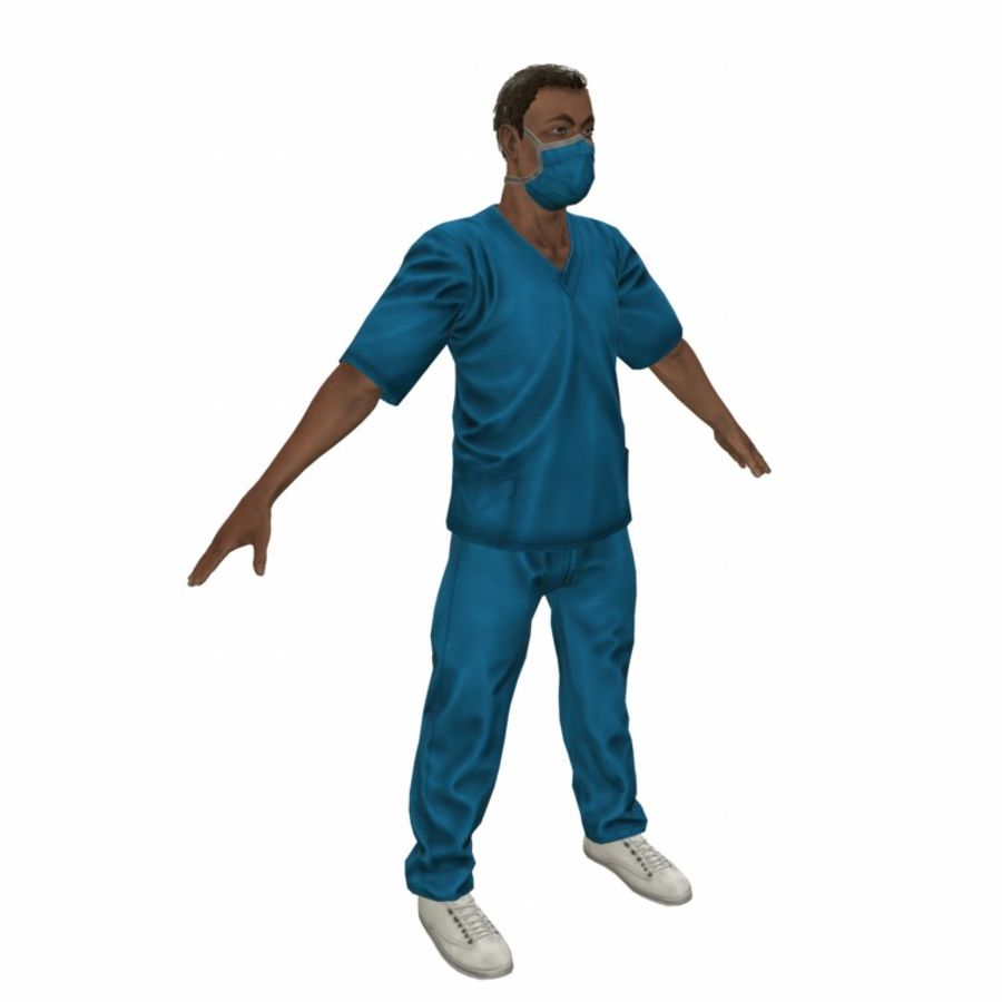 American Medical Man (Rigged)) royalty-free 3d model - Preview no. 14