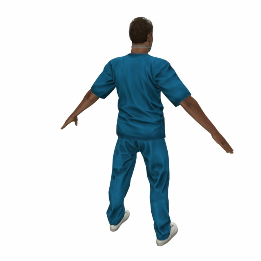 American Medical Man (Rigged)) royalty-free 3d model - Preview no. 9