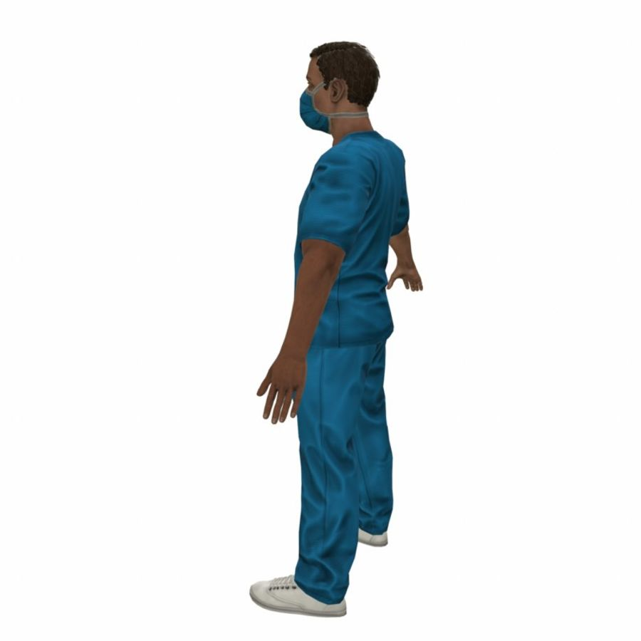 American Medical Man (Rigged)) royalty-free 3d model - Preview no. 5