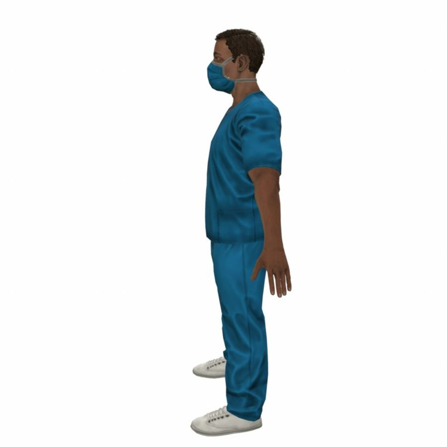 American Medical Man (Rigged)) royalty-free 3d model - Preview no. 4