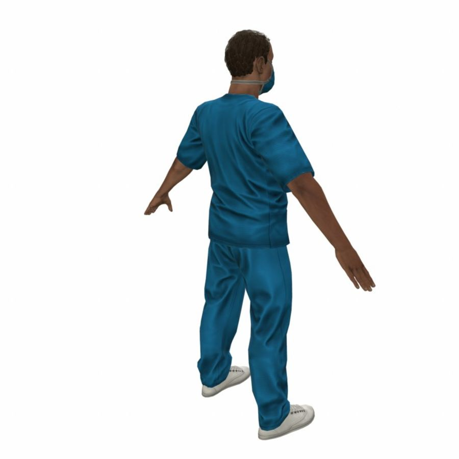 American Medical Man (Rigged)) royalty-free 3d model - Preview no. 10