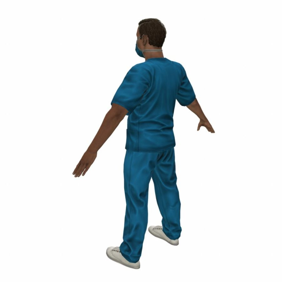 American Medical Man (Rigged)) royalty-free 3d model - Preview no. 6