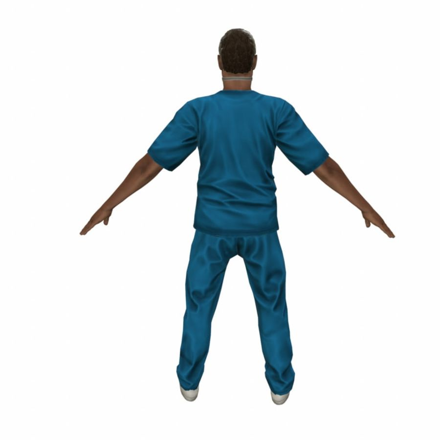 American Medical Man (Rigged)) royalty-free 3d model - Preview no. 8