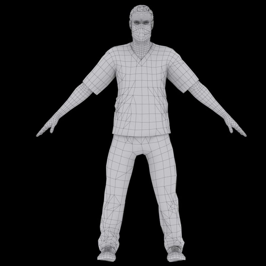 American Medical Man (Rigged)) royalty-free 3d model - Preview no. 16