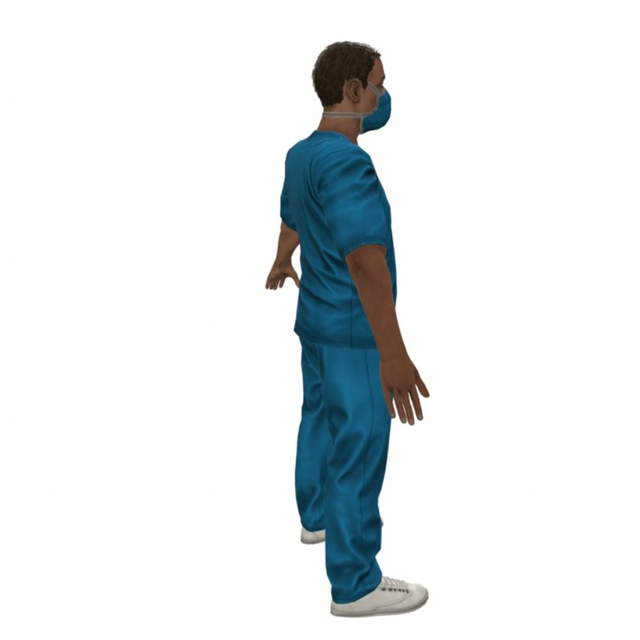 American Medical Man (Rigged)) royalty-free 3d model - Preview no. 11