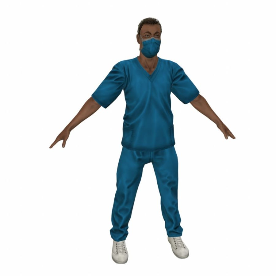 American Medical Man (Rigged)) royalty-free 3d model - Preview no. 15