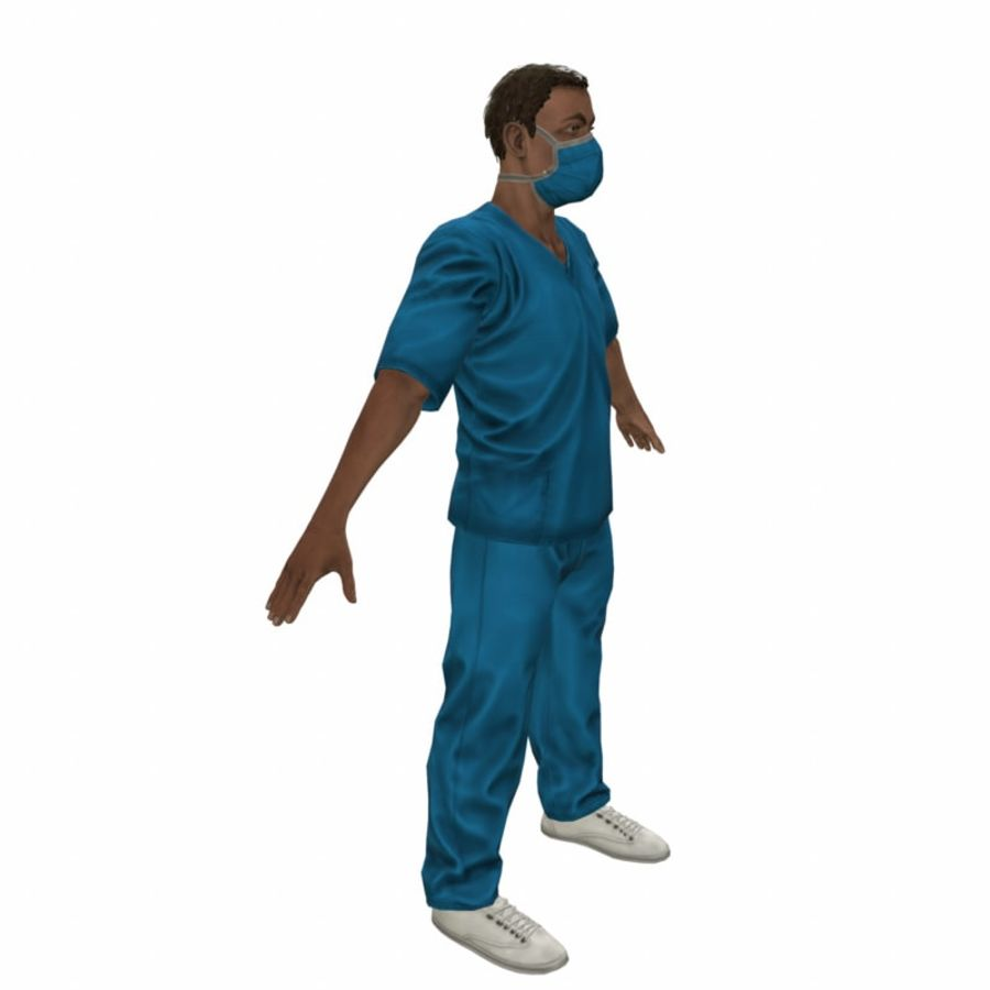 American Medical Man (Rigged)) royalty-free 3d model - Preview no. 13
