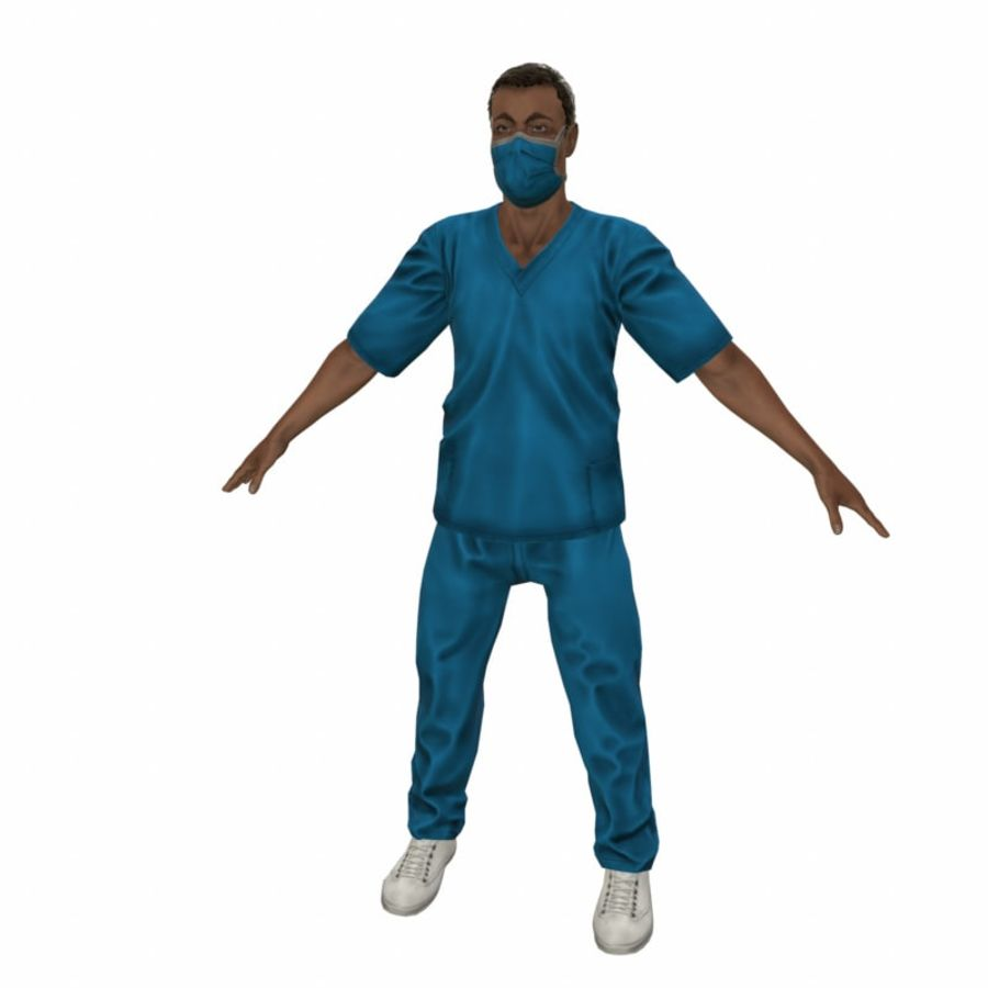 American Medical Man (Rigged)) royalty-free 3d model - Preview no. 1