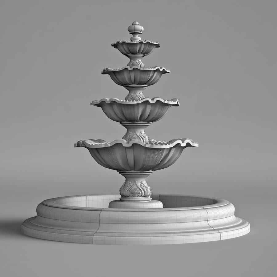 fountain royalty-free 3d model - Preview no. 7