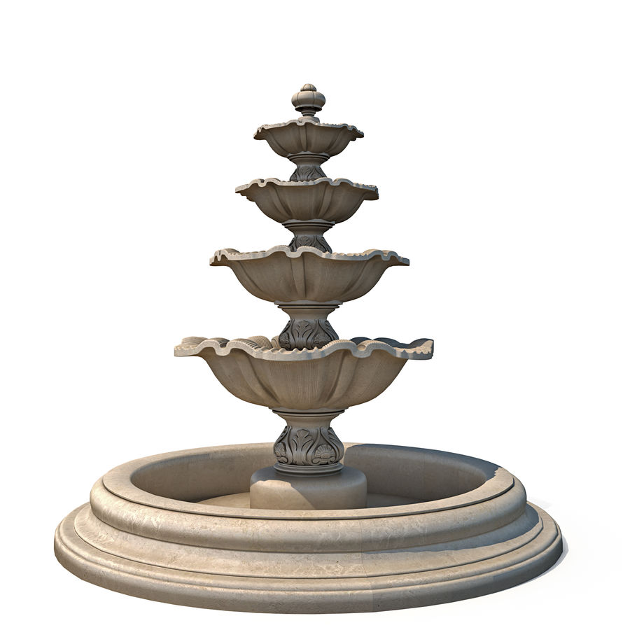 fountain royalty-free 3d model - Preview no. 1