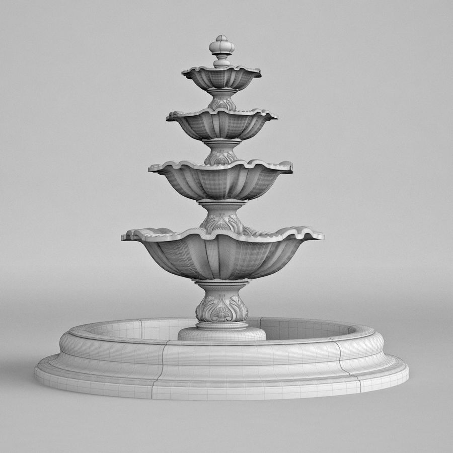 fountain royalty-free 3d model - Preview no. 8