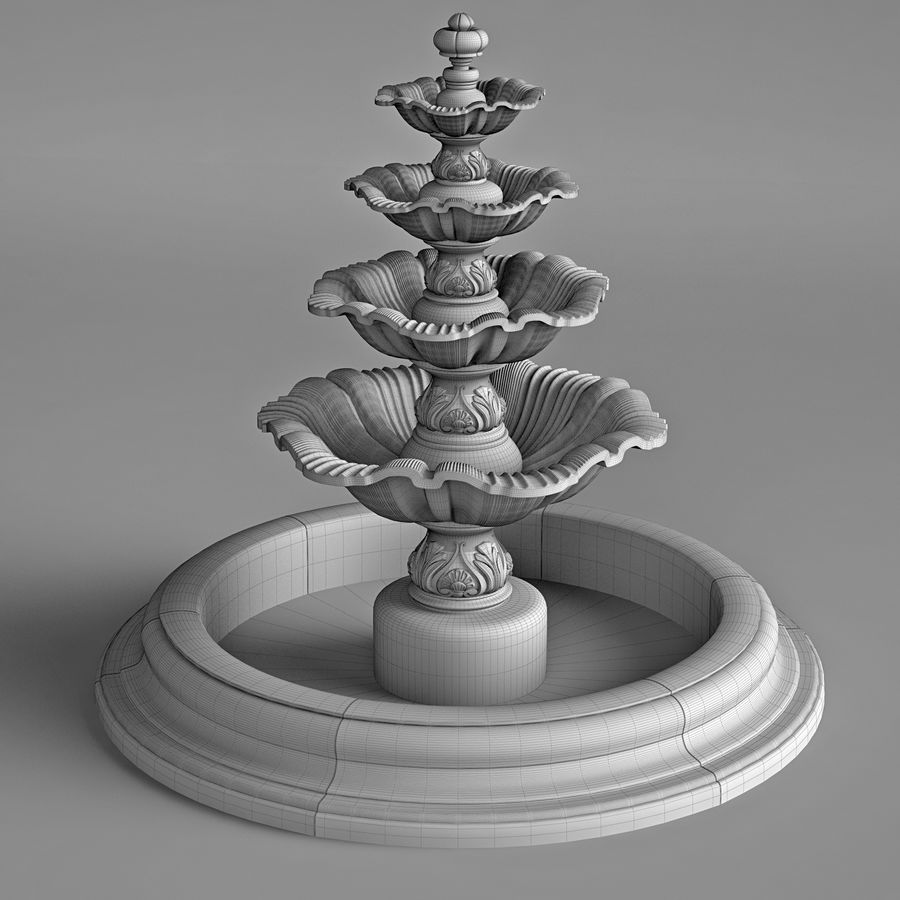 fountain royalty-free 3d model - Preview no. 10