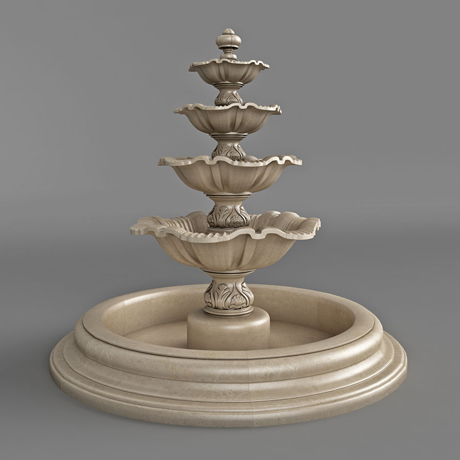 fountain royalty-free 3d model - Preview no. 3