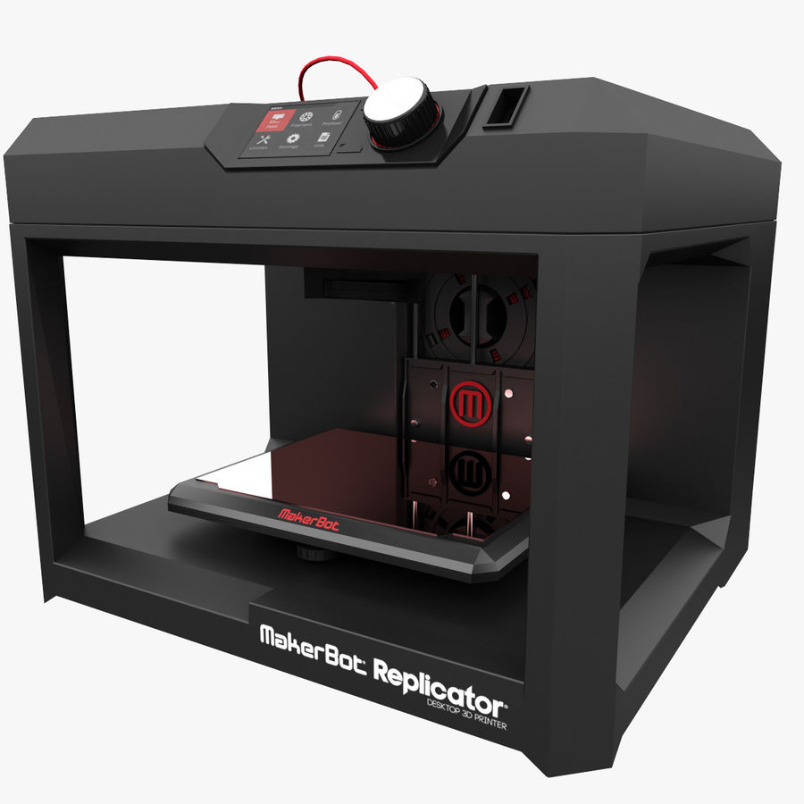 Makerbot Replicator 3D Printer 5th Gen royalty-free 3d model - Preview no. 2