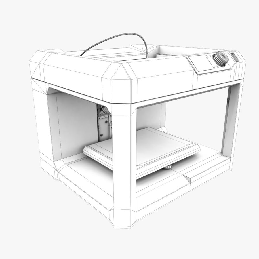 Makerbot Replicator 3D Printer 5th Gen royalty-free 3d model - Preview no. 11