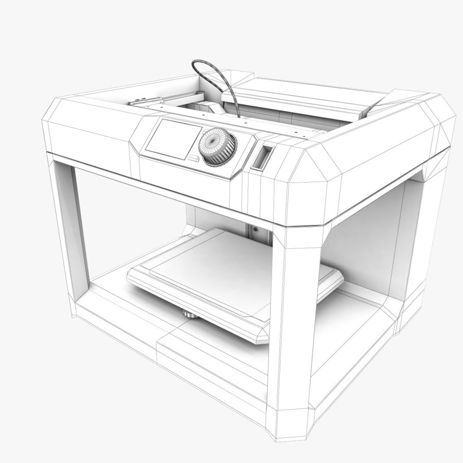 Makerbot Replicator 3D Printer 5th Gen royalty-free 3d model - Preview no. 12