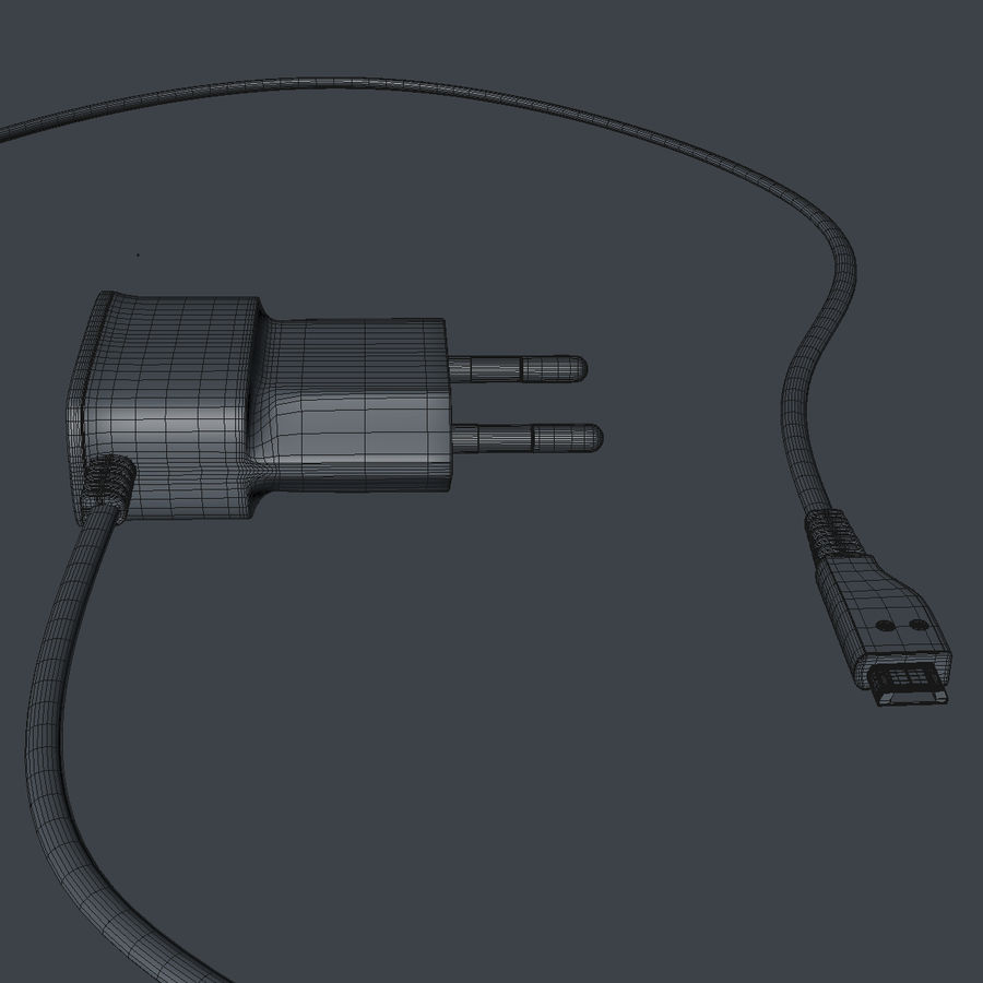 Charger royalty-free 3d model - Preview no. 7