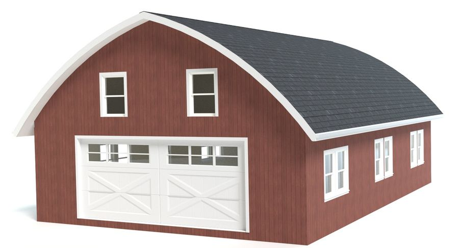 Barn royalty-free 3d model - Preview no. 2