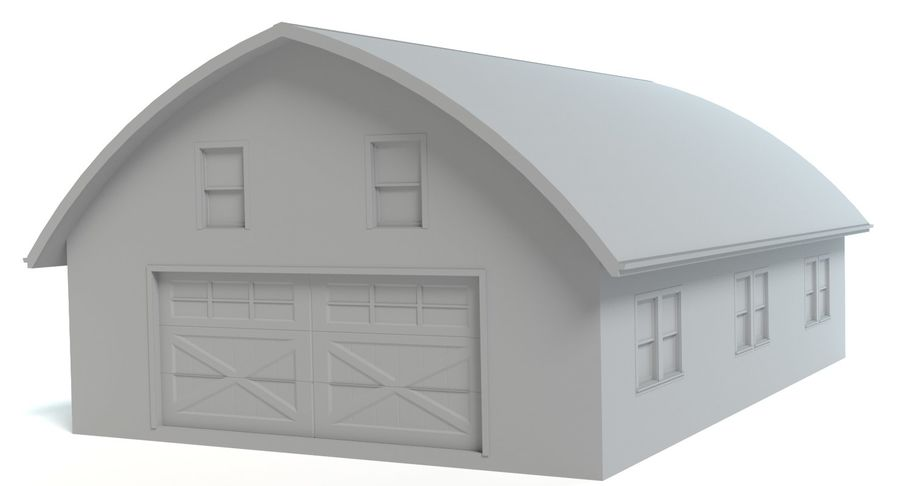 Barn royalty-free 3d model - Preview no. 3