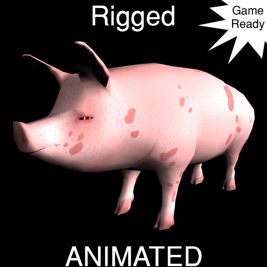 Pig royalty-free 3d model - Preview no. 1