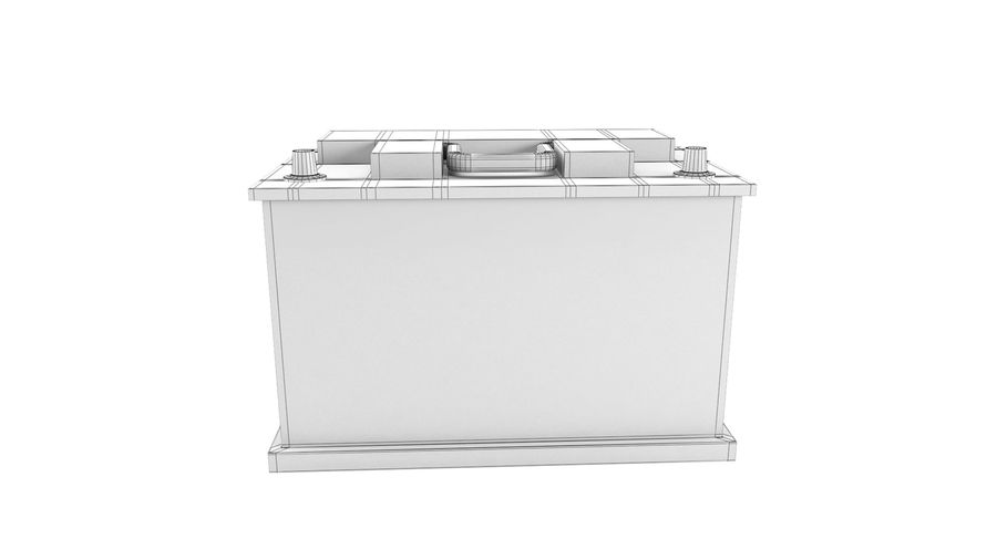 Old Car Battery royalty-free 3d model - Preview no. 6
