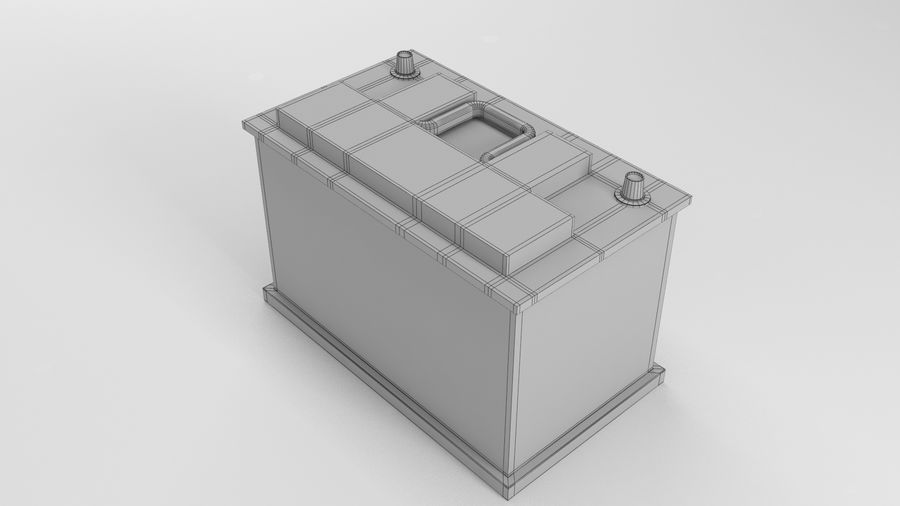 Old Car Battery royalty-free 3d model - Preview no. 7