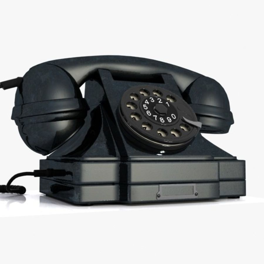 Vintage Phone royalty-free 3d model - Preview no. 9